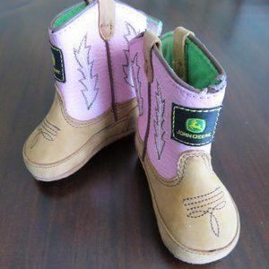 Infant John Deere Pink Western Boots